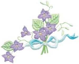Violets & Ribbon Corner ( Reversed )