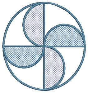 Pinwheel Circle (Square Hoop)