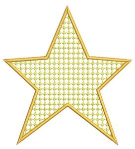 Filled Star (Square Hoop)