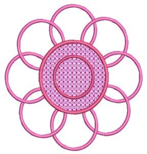 Flower (Square Hoop)