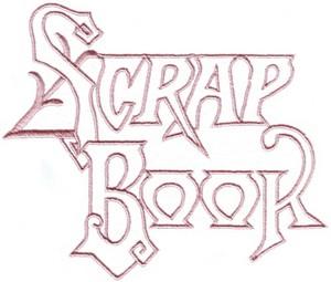Victorian Scrapbook Open Lettering
