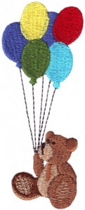 Baby Book Bear and Balloons