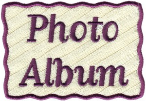 Photo Album Cover  ( Applique )