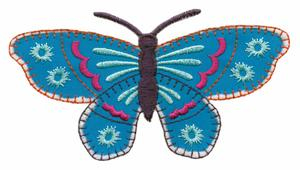 Article #1 Blanket Stitch Applique Butterfly