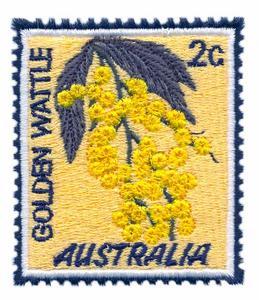 Golden Wattle Stamp ( Australia )