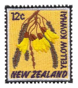 Yellow Kowhai Stamp ( New Zealand )