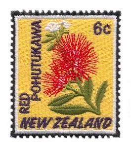 Red Pohutukawa Stamp ( New Zealand )