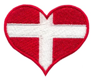 Greenland Flag Heart