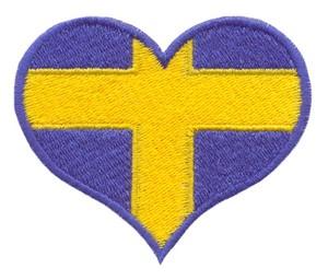 Sweden Flag Heart