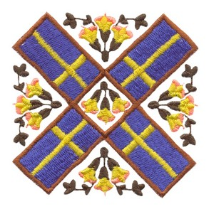 Sweden Flag & Flowers