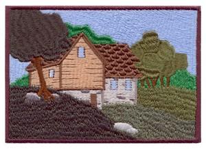Hillside House Scene