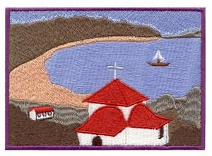 Seaside Church Scene