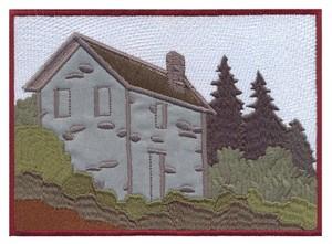 Stone House Scene (Applique)