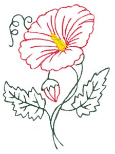 Hibiscus Flower Outline #1