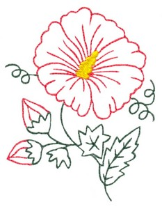 Hibiscus Flower Outline #2