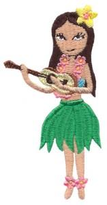 Hula Girl (with ukulele)