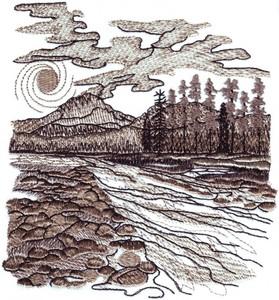 Mountain Stream Landscape ( large )