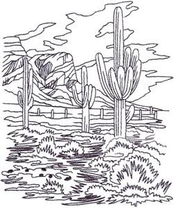 Desert Scene Landscape ( large )