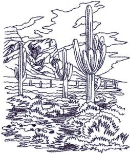Desert Scene Landscape ( small )