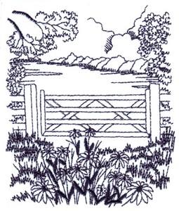 Flower Meadow Landscape ( small )