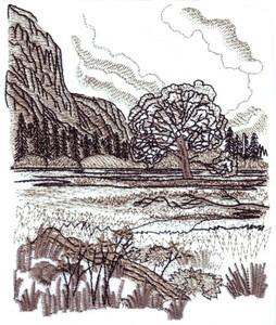 Mountain Meadow Landscape ( large )