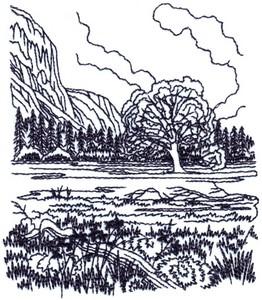 Mountain Meadow Landscape ( small )