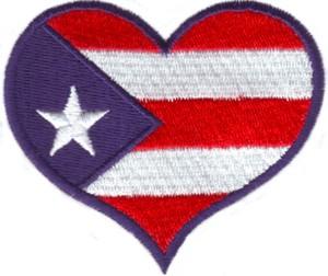 Puerto Rico Flag Heart