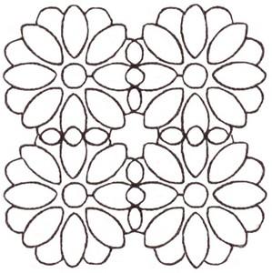 Blossom - Sashiko Style (smaller)
