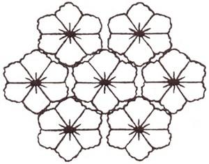 Ajisai - Sashiko Style (smaller)