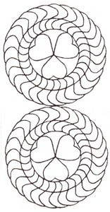 Heart Ring - Sashiko Style