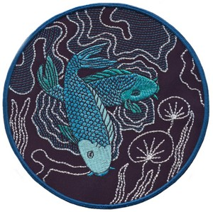 Koi and Lily Pads - Sashiko Picture