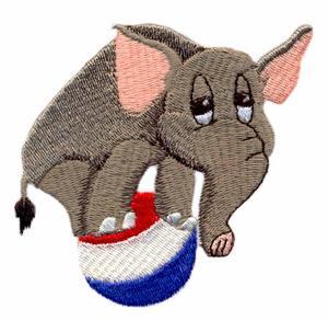 Balancing Ball Circus Elephant