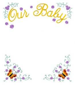 Our Baby Frame (Square Hoop)