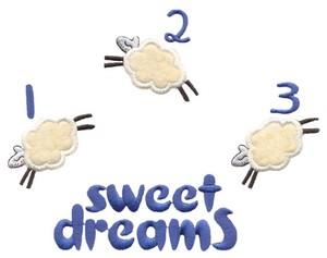 123 Sweet Dreams Sheep (Square Hoop)
