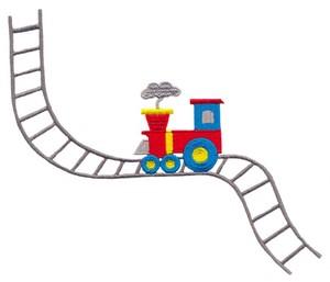 Kid's Train Engine (Square Hoop)