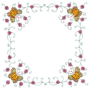 Butterfly Corners (Square Hoop)