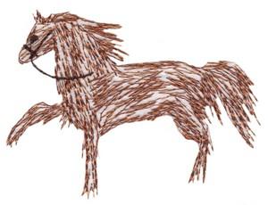 Prancing Horse (rough fill)