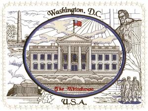 Washington D.C. (Micro-embroidery)