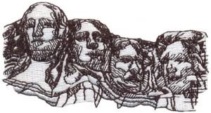Mount Rushmore (Micro-embroidery)