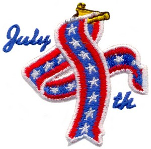 July 4th (Micro-embroidery)