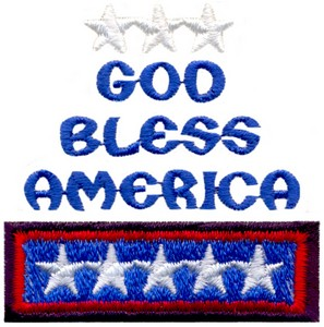 God Bless America (Micro-embroidery)