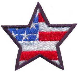 Stars and Stripes Star (Micro-embroidery)