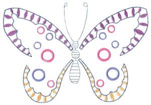 Open Detailed Butterfly (MacroHoop)