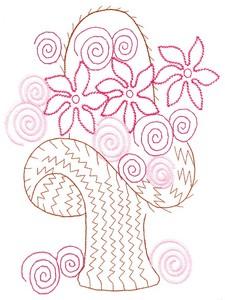 Outlined Flower Basket (MacroHoop)