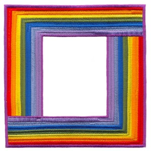 Large Square Rainbow Border (Square Hoop)