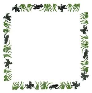 Square Frog Border (Square Hoop)