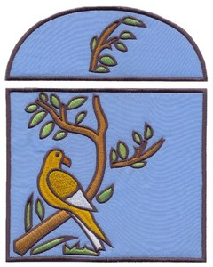 Applique Bird on Branch (Square Hoop)