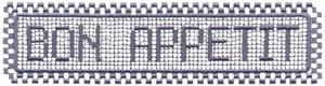 Bon Appetit (pattern and squares border)