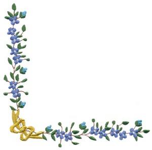Forget Me Not (floral corner)