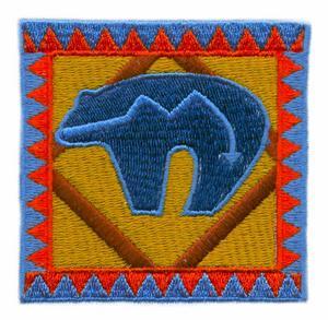 Navajo Rug, Zuni Bear Design